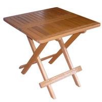 Holz Kaffeetisch 50 x 50 x 50 cm, Gartentisch Beistelltisch